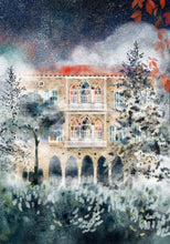 Load image into Gallery viewer, Winter Mist - Traditional Lebanese Mountain House - Giclée Print