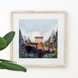 City of the Sun, Baalbek Ruins - Giclée Print
