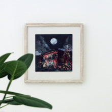 Load image into Gallery viewer, Quartz Pink Traditional Lebanese House with Full Moon - Giclée Print
