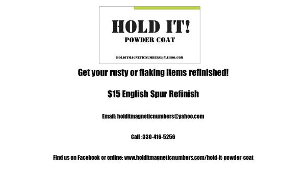 Hold It! Powder Coat Spur Refinish Certificate