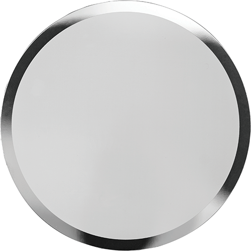 Aluminium disc with shiny edge for sublimation