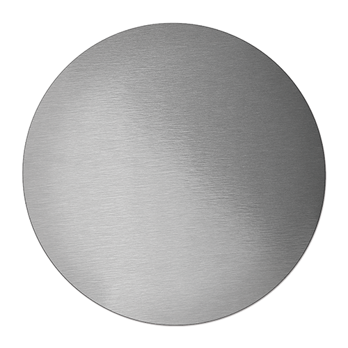 Aluminium disc for sublimation