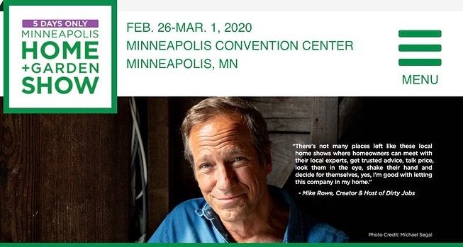Our very own Kelli Kaufer creates the stage for Mike Rowe at the Minneapolis Home and Garden Show with featured Smiths!