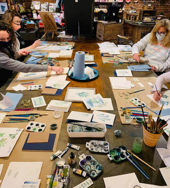 Wondering What To Do This Weekend - How About An Art Class?  Grab a Friend And Join Us At The Mercantile.