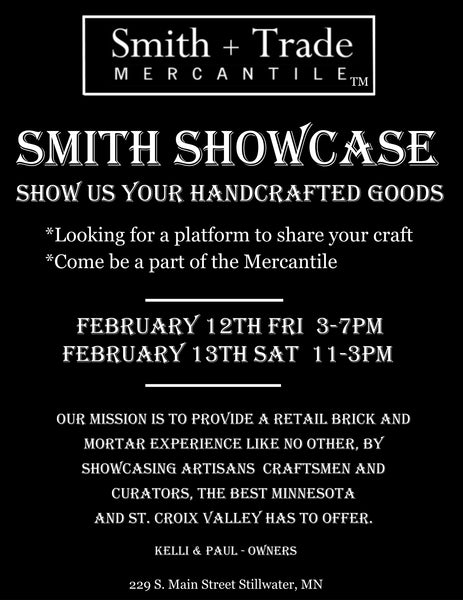 The Mercantile Is On The Hunt For New Smith's - Do You Create Unique Art? Stop By Our Open House Fri. & Sat.