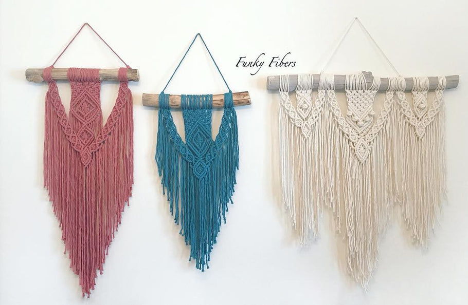 Macrame Hot Trend for 2019 and our Smith Funky Fibers is on this cutting edge craft!