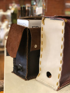 Leather Wine Box Cover -  Assorted Colors