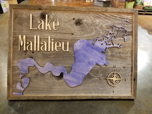"Lake Mallalieu Wd Sign 14"" x 20"""