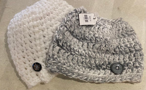 Messy Bun/Ponytail Beanies Knit Beanie Assorted