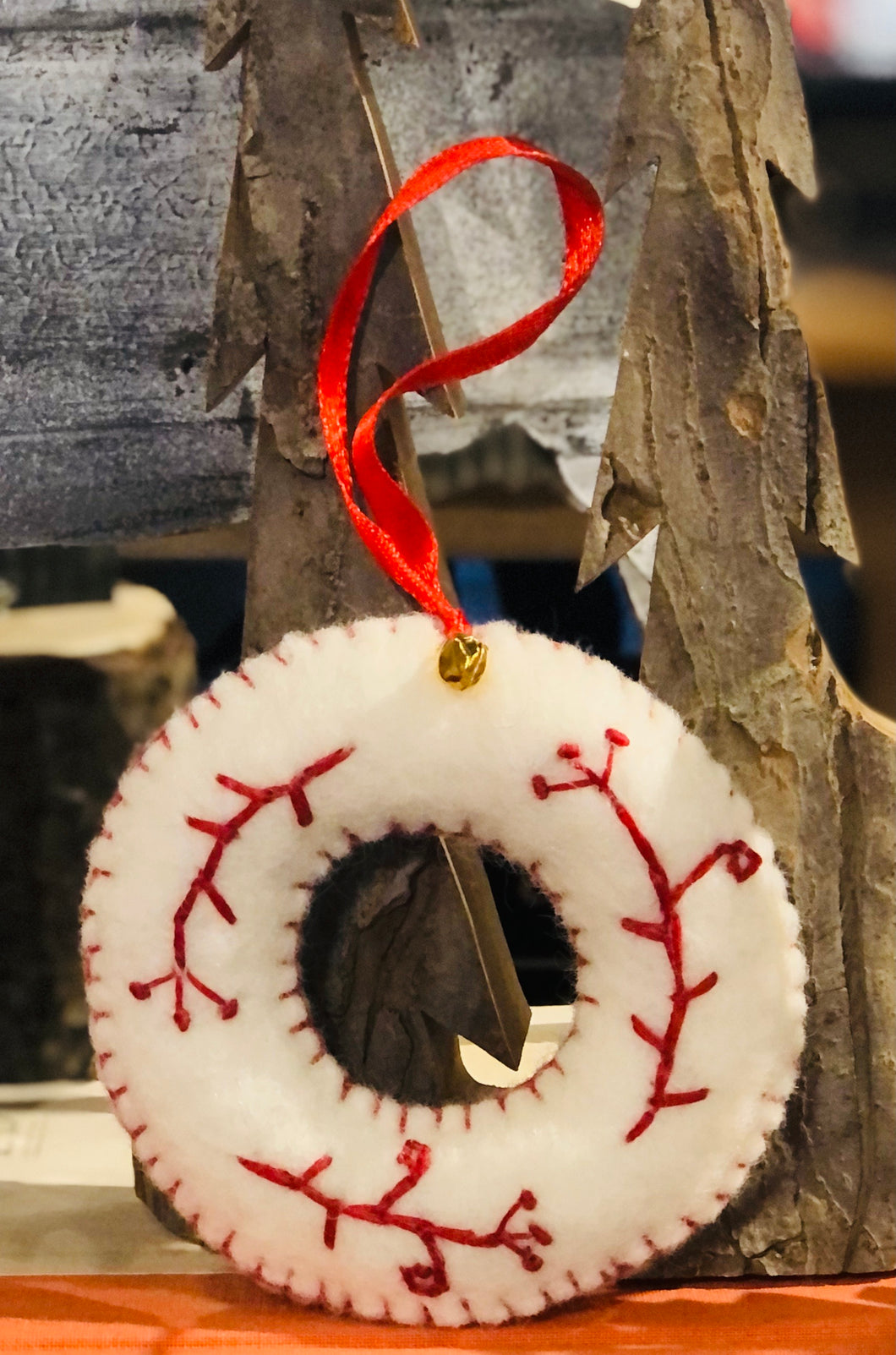 Felted Wreath Ornaments