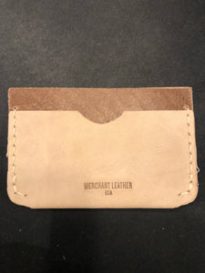 Leather Slot Billfold - Tan