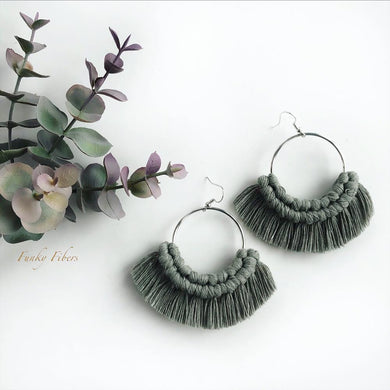 Hoop earrings in Sage