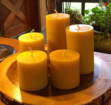 Beeswax Cylinder Candle - 3x4