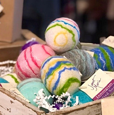 FELTED WOOL EGG SOAPS