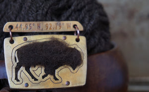 Bronze Buffalo Badge Americas Buffalo