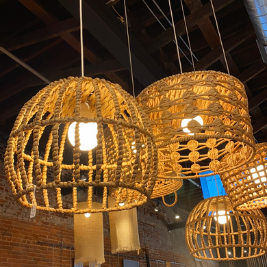 Kelli Kaufer Designs hanging basket pendant light
