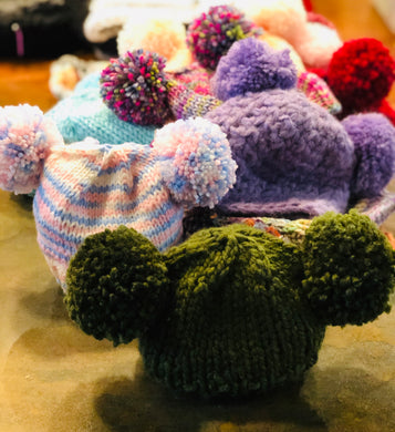 Dbl Pom Baby Hat Assorted
