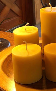 Beeswax Cylinder Candle - 3x3