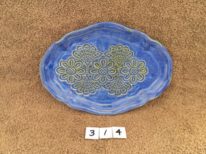 Oval lace soap dish-314