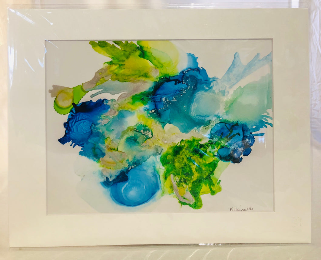Alcohol Ink Matted Prints 8.5