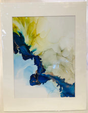 "Load image into Gallery viewer, Alcohol Ink Matted Prints 8.5"" x 11"" Assorted Originals"