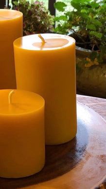 Beeswax Cylinder Candle - 3x5