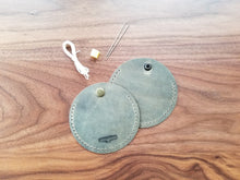 Load image into Gallery viewer, Leather Coin Purse or ear bud Kit