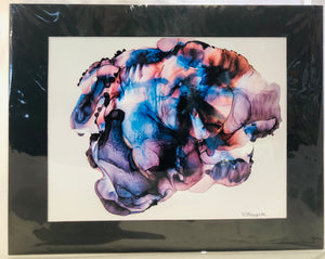 "Alcohol Ink Matted Prints 8.5"" x 11"" Assorted Originals"