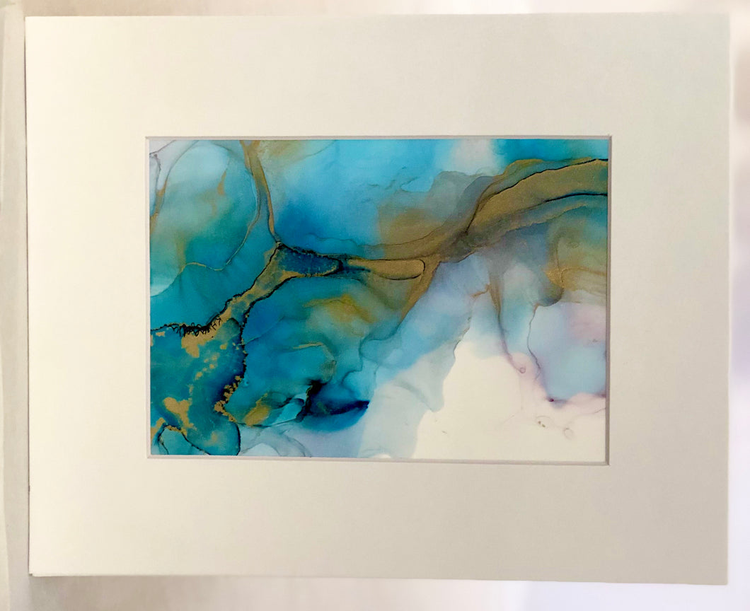 5x7 Matted Assorted Alcohol Ink Originals