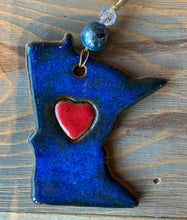Load image into Gallery viewer, MN Ornament-w/heart