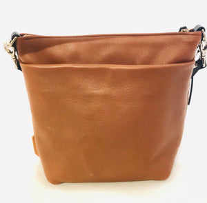 Luxe leather med slouchy bag