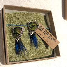 Load image into Gallery viewer, Triangle dangle earrings