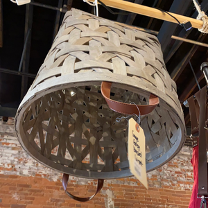 Kelli Kaufer Designs hanging gray basket pendant light