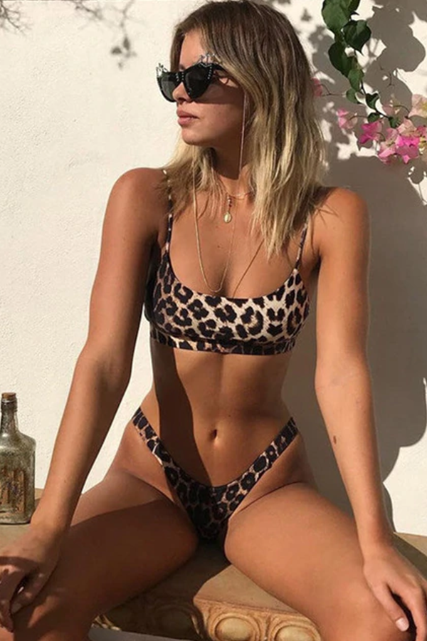 Leopard Lady High-Leg Bikini-Set