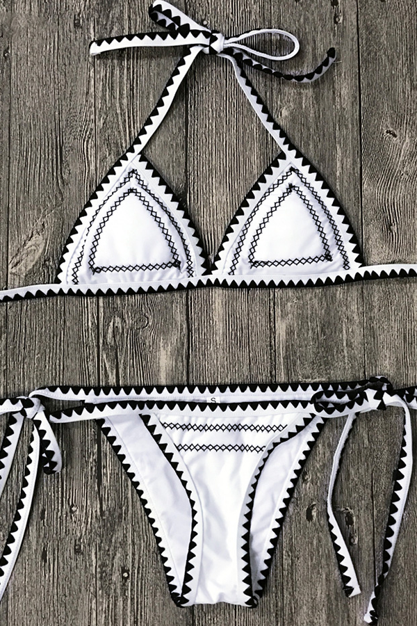 RUBIE WHITE PUSH-UP TRIANGLE BIKINI
