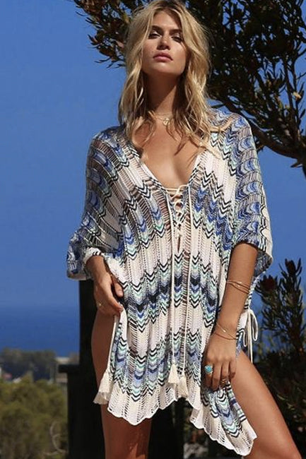 HAZY DAYS BEACH COVER-UP