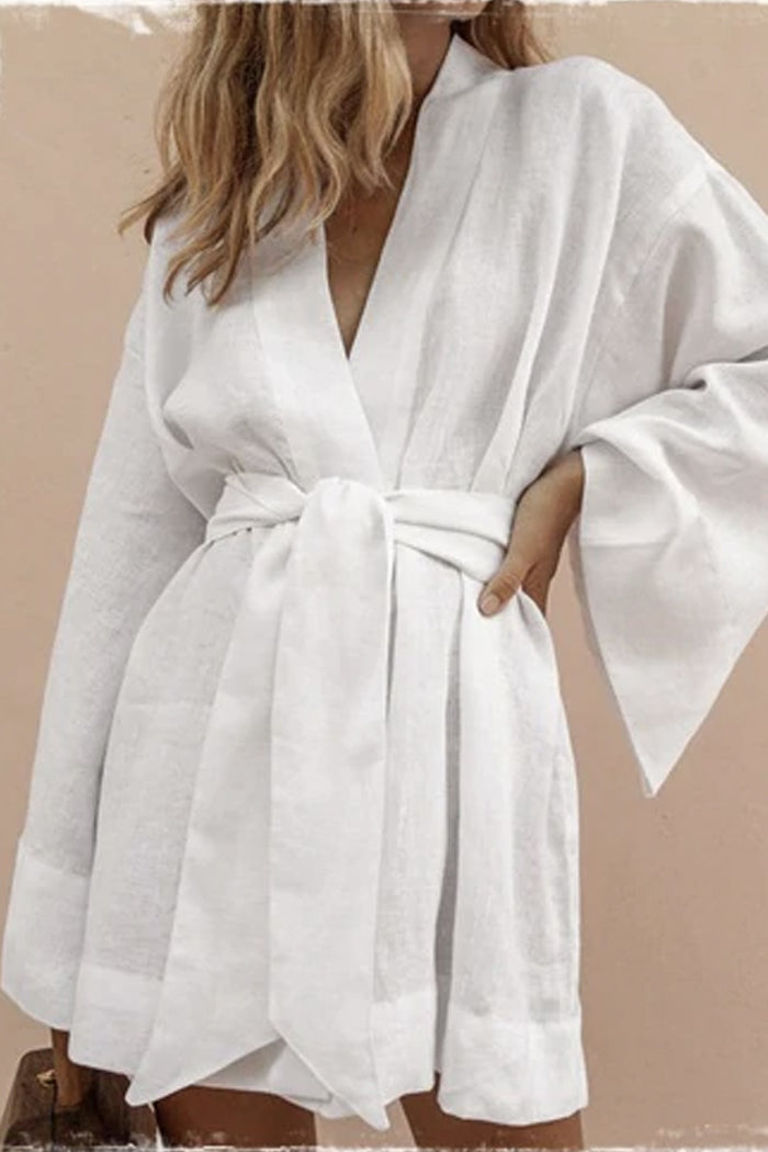 LEELA WIDE-SLEEVED ROBE