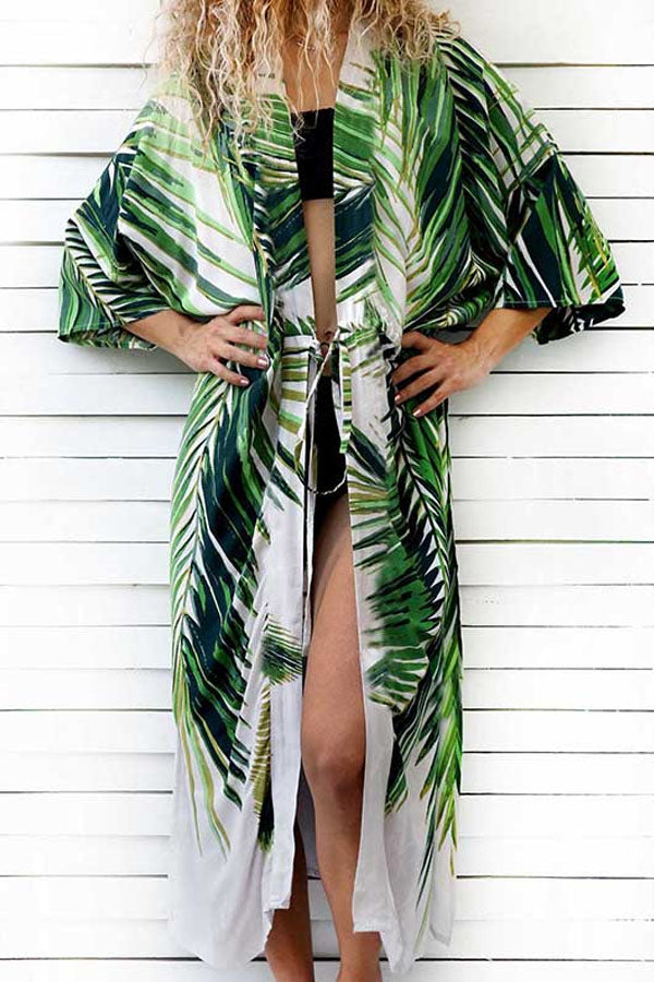 RIVIERA MAYA PALM-LEAF COVER-UP