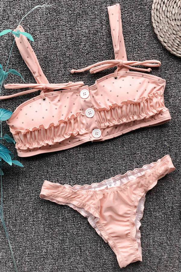 BETTE PINK RUFFLED BIKINI