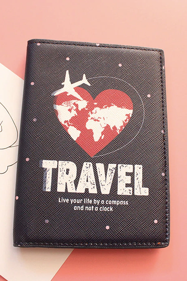 LOVE TRAVEL PASSPORT COVER
