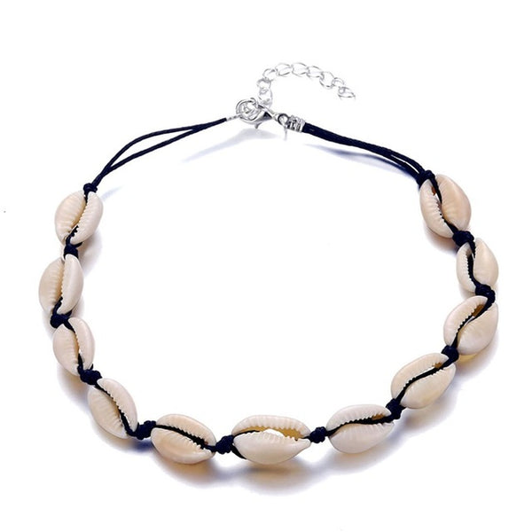 ZARAIAH SEASHELL CHOKER NECKLACE