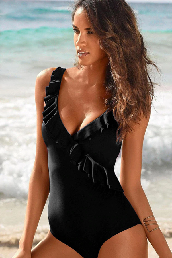 Farah Ruffled One-Piece Swimsuit