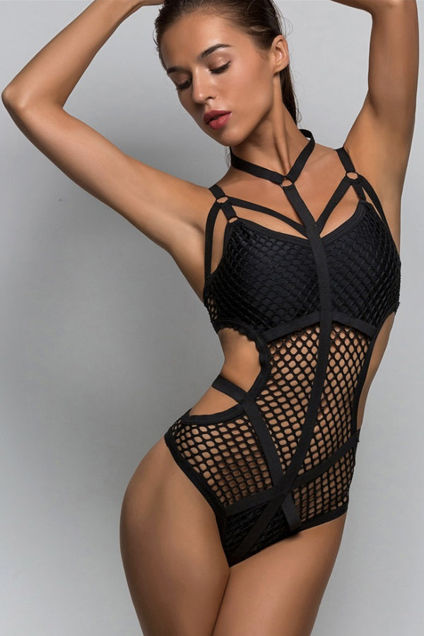 BERGHAIN SUNDAY STRAPPY SWIMSUIT