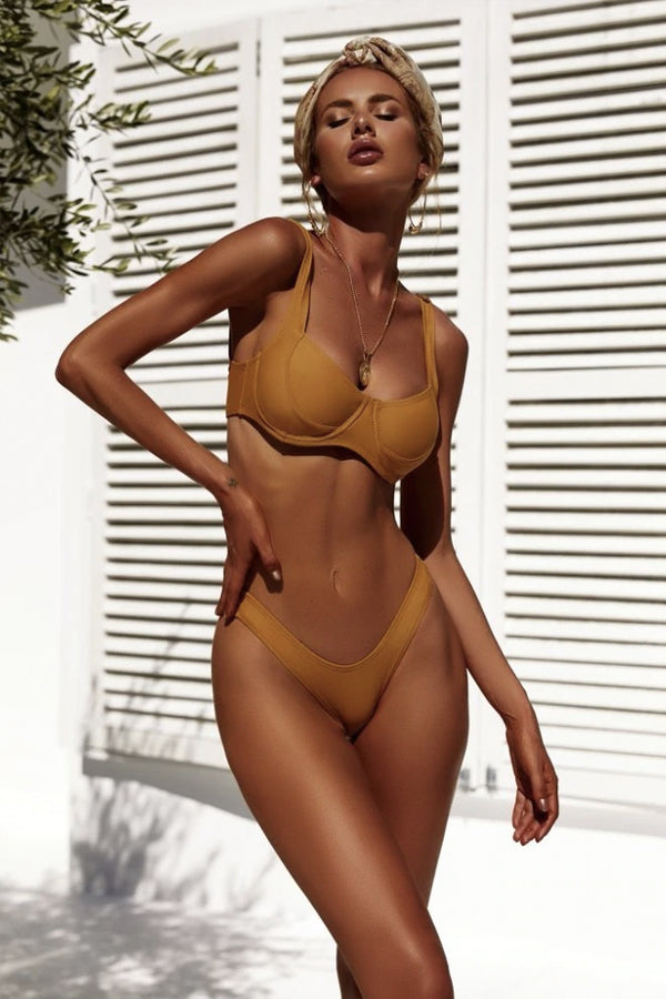 ALYSSA BEIGE HIGH-CUT BIKINI