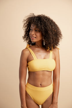 AVIANNA HIGH-WAISTED BIKINI SET YELLOW
