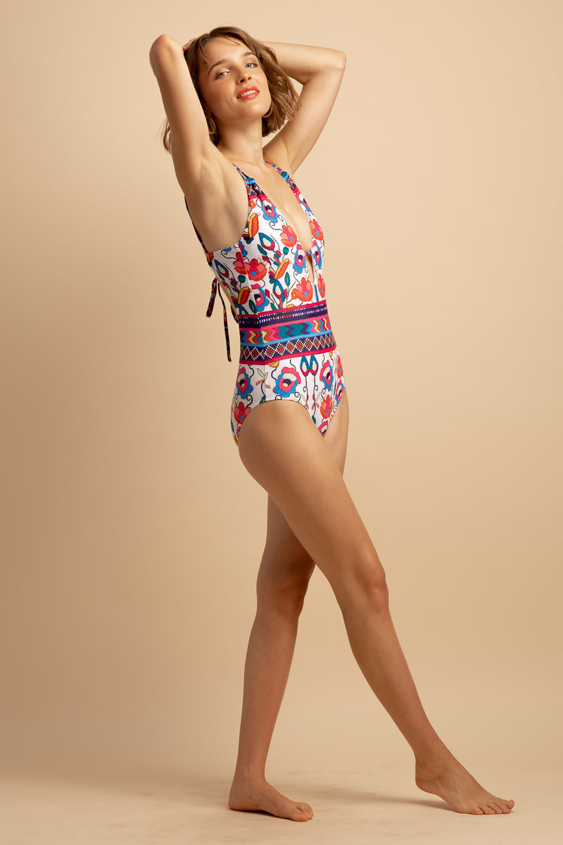 UNA ORNAMENT ONE-PIECE SWIMSUIT