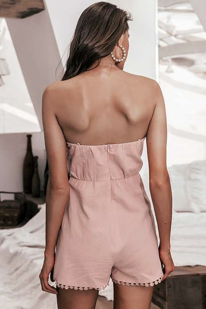 CASUAL FRONT-KNOT PLAYSUIT