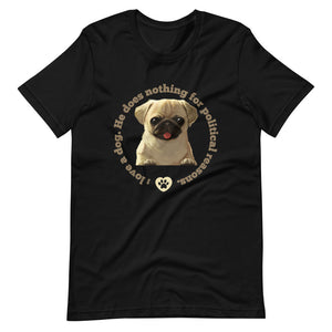 Dog Shirt | Printed T-Shirt | Puppy | Man's Best Friend | Birthday Gift | Love of a Dog | Black Cotton T-Shirt |Short-Sleeve Unisex T-Shirt
