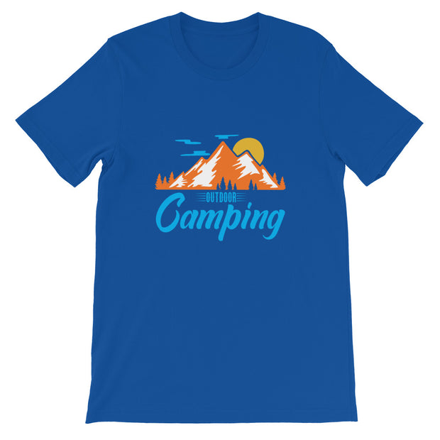 Outdoor Camping Short-Sleeve Unisex T-Shirt | Camping Tee | Vacation Shirt | Tent | Summer Camping | Mountain Shirts | Hiking Shirt - Storex Sale