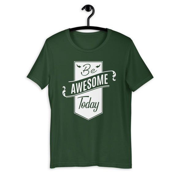 Be Awesome Shirt | Printed Tee | Motivational Shirt | Green Shirts | Novelty Shirts | Summer Shirts | Awesome Shirt